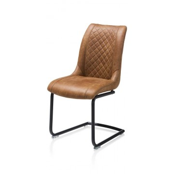 Habufa 22443 Armin Leather Dining Chair - Cognac