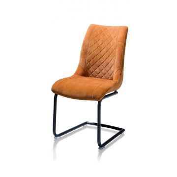 Habufa 22441 Armin Plush Velvet Dining Chair - Ochre