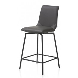 Habufa 29961 Davy Bar Stool - Anthracite and Black Metal