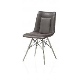 Habufa 29804 Marcella Dining Chair - Coffee on Steel Frame