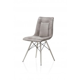 Habufa 29804 Marcella Dining Chair - Light Grey on Steel Frame