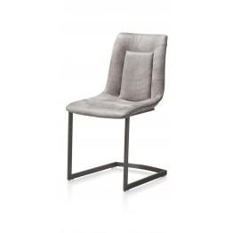 Habufa 29805 Marcella Dining Chair - Light Grey on Vintage Frame