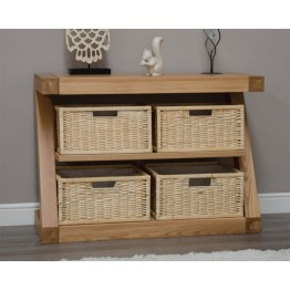 Z Designer Basket Console Table