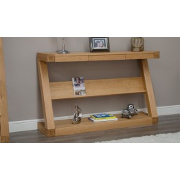 Z Designer Wide Console Table with Shelf
