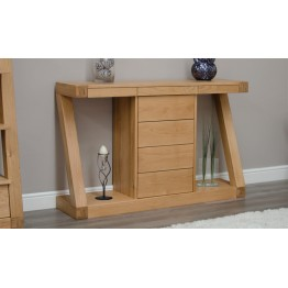 Z Designer Wide Console Table with Drawers