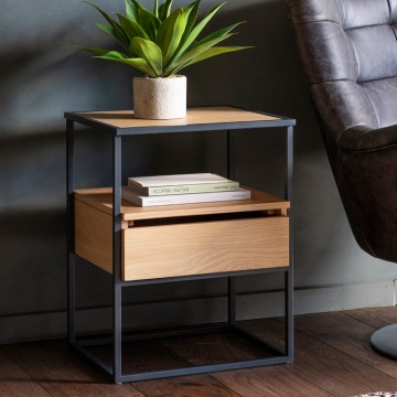 Hudson Living Balham Oak Side Table