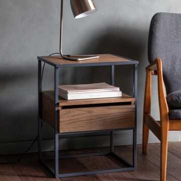 Hudson Living Balham Smoked Side Table