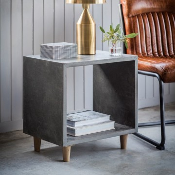Hudson Living Bergen Cube Lamp Table