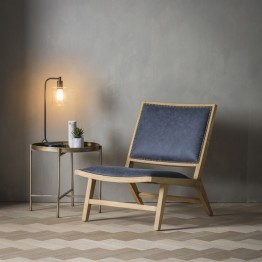 Hudson Living Carnaby Chair - Denim Fabric