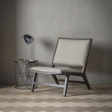 Hudson Living Carnaby Chair - Stone Washed Fabric