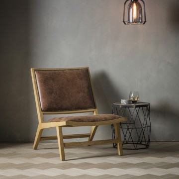 Hudson Living Carnaby Chair - Tan Leather
