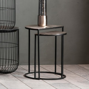 Hudson Living Delfin Side Table Nest