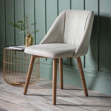 Hudson Living Elliot Dining Chairs - Only available as a pack of 2  - NEUTRAL COLOUR
