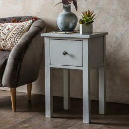 Hudson Living Hadlow Pebble Grey Side Table