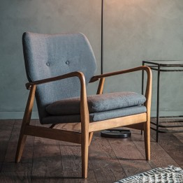 Hudson Living Jensen Chair in Grey
