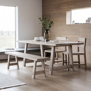 Hudson Living Kielder Dining Table - 185cm Long