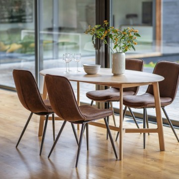 Hudson Living Madrid Oval Dining Table