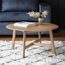 Hudson Living Madrid Round Coffee Table