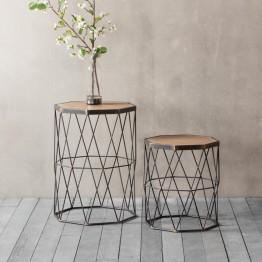Hudson Living Marshall Side Tables (set of 2)