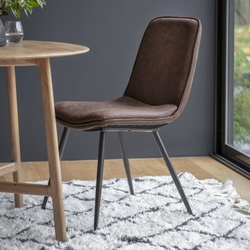 Hudson Living Newton Dining Chairs - Only available as a pack of 2  - BROWN COLOUR