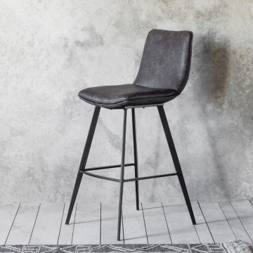 Hudson Living Palmer Bar Stool  - Only available as a pack of 2 - GREY