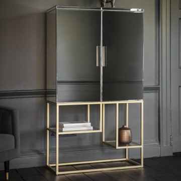 Hudson Living Pippard Cocktail Cabinet Champagne