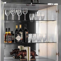Hudson Living Pippard Cocktail Cabinet Black