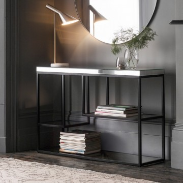Hudson Living Pippard Console Table in Black