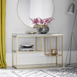 Hudson Living Pippard Console Table in Champagne