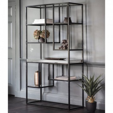 Hudson Living Pippard Open Display Unit in Black