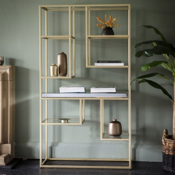 Hudson Living Pippard Open Display Unit in Champagne
