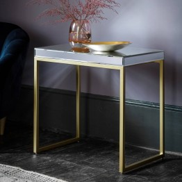 Hudson Living Pippard Side Table - Champagne Colour