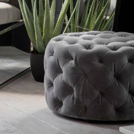 Hudson Living Sergio Footstool in Mirage Velvet