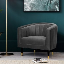 Hudson Living Serrano Armchair (Tub Chair) in Mirage Velvet Fabric
