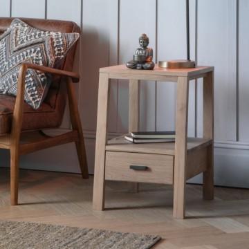 Hudson Living Sherwood Oak Side Table