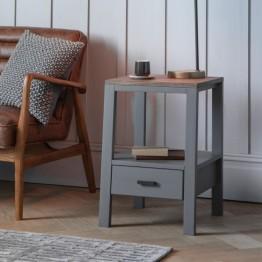 Hudson Living Sherwood Smoked Grey Side Table
