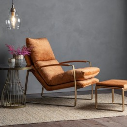 Hudson Living Fabien Lounger in Ochre Colour
