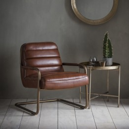 Hudson Living Soho Lounge Chair in Saddle