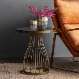 Hudson Living Southgate Side Table Bronze