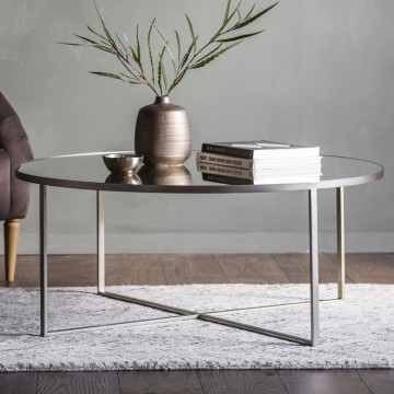 Hudson Living Torrance Coffee Table - Silver
