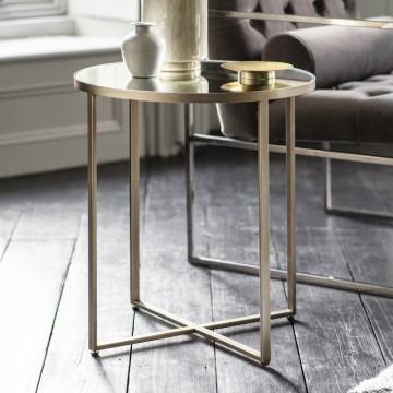 Hudson Living Torrance Side Table - Silver