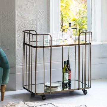 Hudson Living Verna Drinks Trolley - Bronze