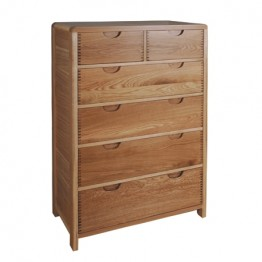 Ercol Bosco 1363 Six Drawer Tall Wide Chest of Drawers