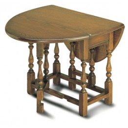 1493 Wood Bros Old Charm Oval Occasional Gateleg Table