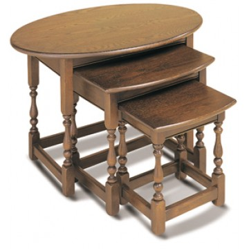 1990 Wood Bros Old Charm Nest of Tables