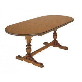 2064 Wood Bros Old Charm Lancaster Extending Table