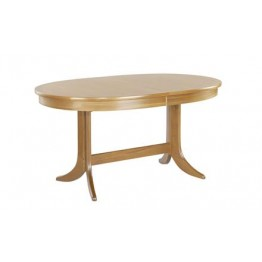 2104 Nathan Classic Large Oval Pedestal Dining Table