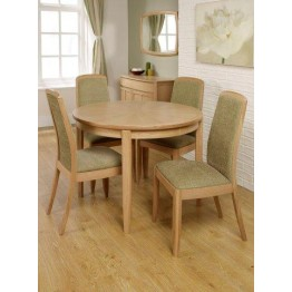 Nathan Oak 2905 Circular Dining Table on Legs with Sunburst Top NSD-2905-OK