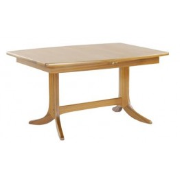 2144 Nathan Shades Small Boat Shaped Pedestal Dining Table