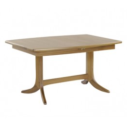 Nathan Oak 2145 Shades Small Boat Shaped Pedestal Dining Table